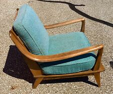 Heywood Wakefield Sable And Turquoise Blue Mid Century 1950u0027s Lounge Chair & Heywood Wakefield Chair   eBay