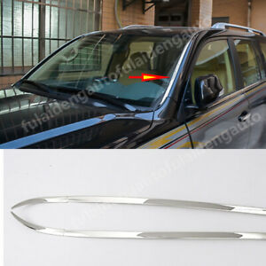 2pcs For Toyota Land Cruiser 2008-2021 Front Windshield Molding Strip Cover Trim