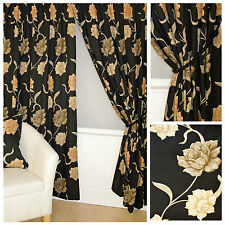 Polyester Contemporary Curtains & Pelmets with Pencil Pleat