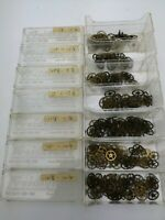 Large Lot of Antique Mixed Pocket Watch Wheels in Sized Containers (AG4)