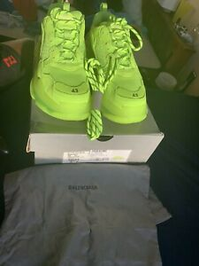 fluorescent yellow balenciaga triple s