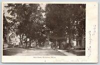 Waldoboro Maine~Main Street~Residential Area~1905 B&W Postcard