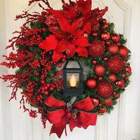 50cm Christmas Wreath Garland Ornament Decor for Xmas Showcase Door Decoration