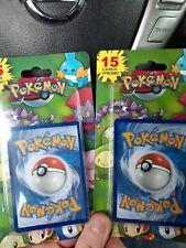 Pokemon 15 cards plus 1 promo Blister Packs 2012 sealed X2