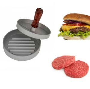Non Stick Burger Press Hamburger Maker Beef Patty Meat BBQ Grill 12cm