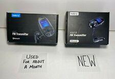 2x - Nulaxy Bluetooth Car FM Audio Transmitter (KM18 - NEW / KM22 - PreOwned)