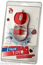NEW TRUST 16742 UNIQUE RED LIQUID LOVE OPTICAL USB MOUSE