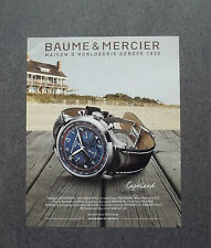 H578 - Advertising Pubblicità -2013- BAUME & MERCIER , CAPELAND