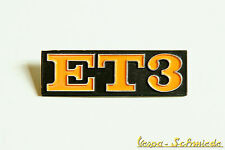 """VESPA lettrage emblème arrière - """" ET3 """" - Primavera PV 125 - Cadre Arrière"""