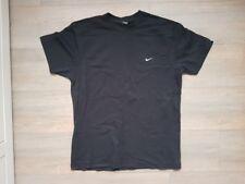 Original NIKE Herren T-Shirt Schwarz Baumwolle Größe M mit Stick-Logo Jungen