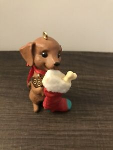 Hallmark Keepsake Puppy Love Ornament.1996.Pre-Owned