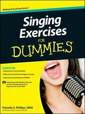 Singing Exercises For Dummies, with CD by Phillips, Pamelia S.