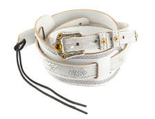Genuine Gretsch Tooled White Leather Cowboy Strap for Guitar/Bass 922-0026-000