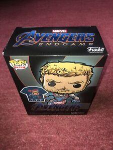 FUNKO Pop Vinyl Avengers Endgame Thor Figure T shirt Size Large L Set Tees