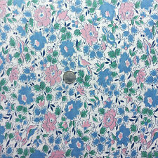 """Vintage Partial Feed Sack  Birds & Flowers in Blue & Pink Novelty approx 20""""x18"""""""