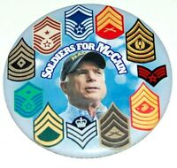 2008 SOLDIERS JOHN MCCAIN campaign pin pinback button political presidential
