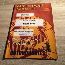 Motherwell v Dundee 2002/03