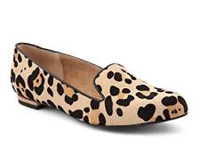 Jones Bootmaker Ladies Guinea Leopard Pony Loafers Size UK 8 EU 41 NH085 MM 04
