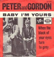 "PETER & GORDON – Baby I'm Yours (1965 SINGLE 7"" 45 RARE DUTCH PS)"