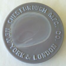 Opaque PURPLE MILK GLASS pot lid CHESEBROUGH MFG CO New York & London