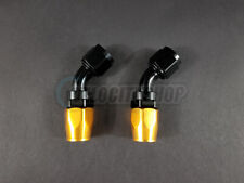 Russell -10 AN 45 Degree Hose End Fittings with Orange Socket 2 pcs