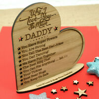 Personalised Valentines Day Gift Engraved Oak Heart 10 Reasons Why I Love You