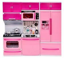 Kids Kitchen Set Pretend Play Food Sets Children Utensils Toys Pink Kitchen Set