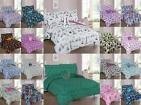 6/8 PIECE COZIEST KIDS AND TEENS COMFORTER BEDDING BED SET FURRY FRIEND INCLUDED