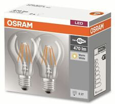 2er Pack OSRAM LED base Classic a60 e27 4w Filament LED-lámpara = 40w bombilla