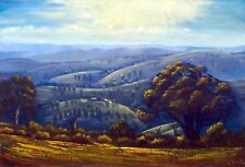 Original Australian Landscape Painting in oils countryside first light
