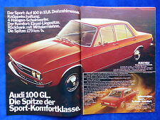 Audi 100 GL - Werbeanzeige Reklame Advertisement 1972 __ (625-2