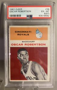 1961 Fleer Oscar Robertson #36 Rookie PSA 6 (ST) BEAUTIFUL EYE APPEAL!!!
