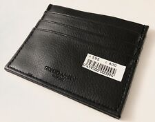 Giorgio Armani Parfums Black Leather Card Holder Wallet- New!