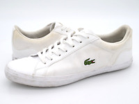 Lacoste Mens 9.5 Lerond 316 1 White Leather Lace Up Fashion Sneaker EUR 42.5