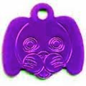 Dog Face Dog Id Pet Tag 30mm Various Colours ( FREE ENGRAVING ) from Melian