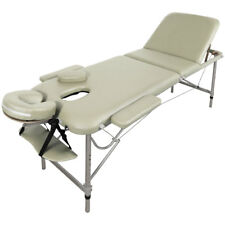 TABLE DE MASSAGE - ALU - SEULEMENT 11KG, 3 ZONES, CREME