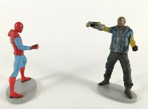 Spiderman & Shocker Figurines Cake Toppers Marvel's Home Coming Disney Store Toy