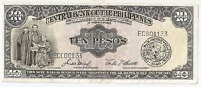 New listing Philippines 10 pesos Nd (1949) low number # 000133