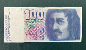 Switzerland. 1 x 100 Swiss Franc Banknote.