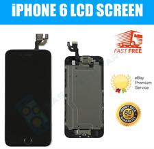 Para iPhone 6 Negro Digitalizador de pantalla táctil LCD de Recambio Botón De Inicio Cámara UK