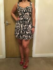 Be Beau Black And White Patterned Dress - Size 12