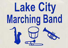 Marching Band Music Instruments High School or College Oracal Vinyl Sticker
