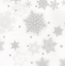 Robert Kaufman - Holiday Flourish 10 Snowflakes - Christmas Fabric Material