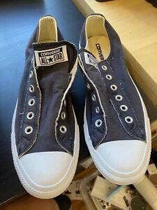 Converse Chuck Taylor All Star Black Sneaker Slip On No Lace Women 10 Men 8