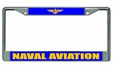 Naval Aviation Chrome License Plate Frame