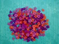 LOOSE ACRYLIC-LUCITE BEADS-FLOWER-FLOWERS-11MM-PURPLE-RED-45 BEADS-FREE GIFT