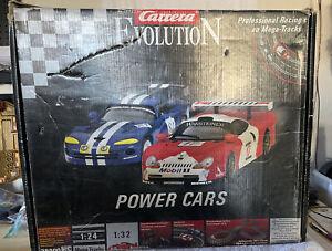RARE ~ Carrera Evolution Power Cars Slot Racing 1:32 Mega Track 1:24 EUC FAST SF