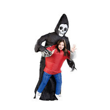 Inflatable Grim Reaper Death Costume Scary Ghost Skeleton Adult Halloween Outfit