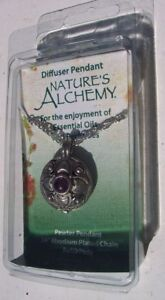 NATURE'S ALCHEMY Essential Oils Diffuser Pendant Amethyst Blossom NEW Ships Free