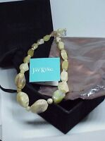 "HSN Jay King Mine Finds Rosella Opal Sterling Silver Beaded 19"" Necklace New Box"